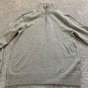 J.crew zip up sweater - men's
